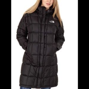 The North Face feathered down coat SZ XS